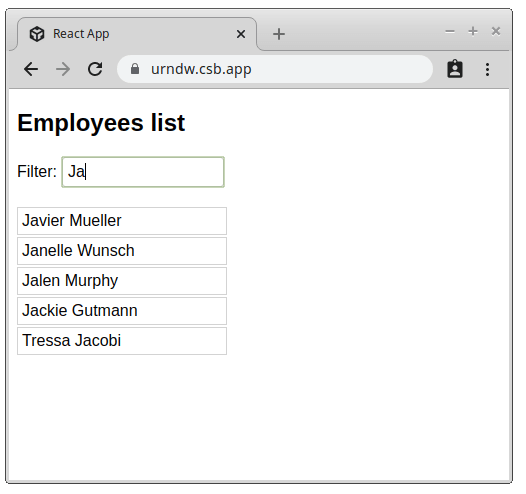 Employees Application
