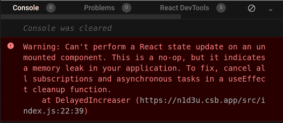 React unmounted component update state warning