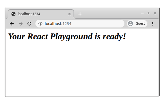 React Playground With CSS